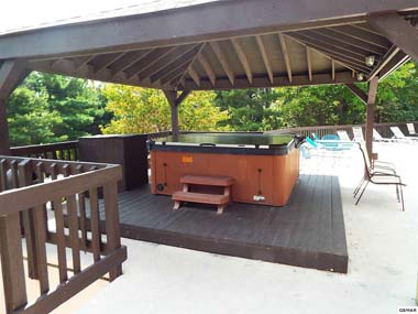 Covered Hot Tub at pool area